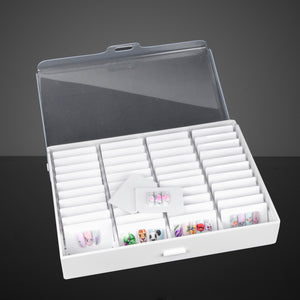 Nail art display box with 44 spaces