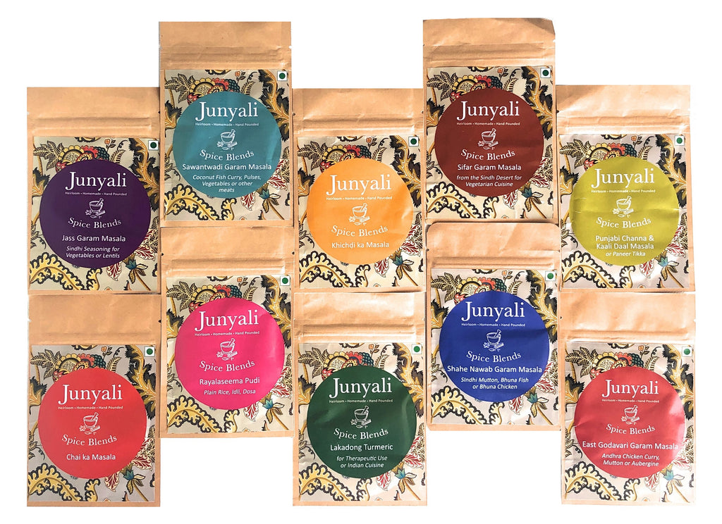 Junyali Tester Pack - 10 Spice Blends