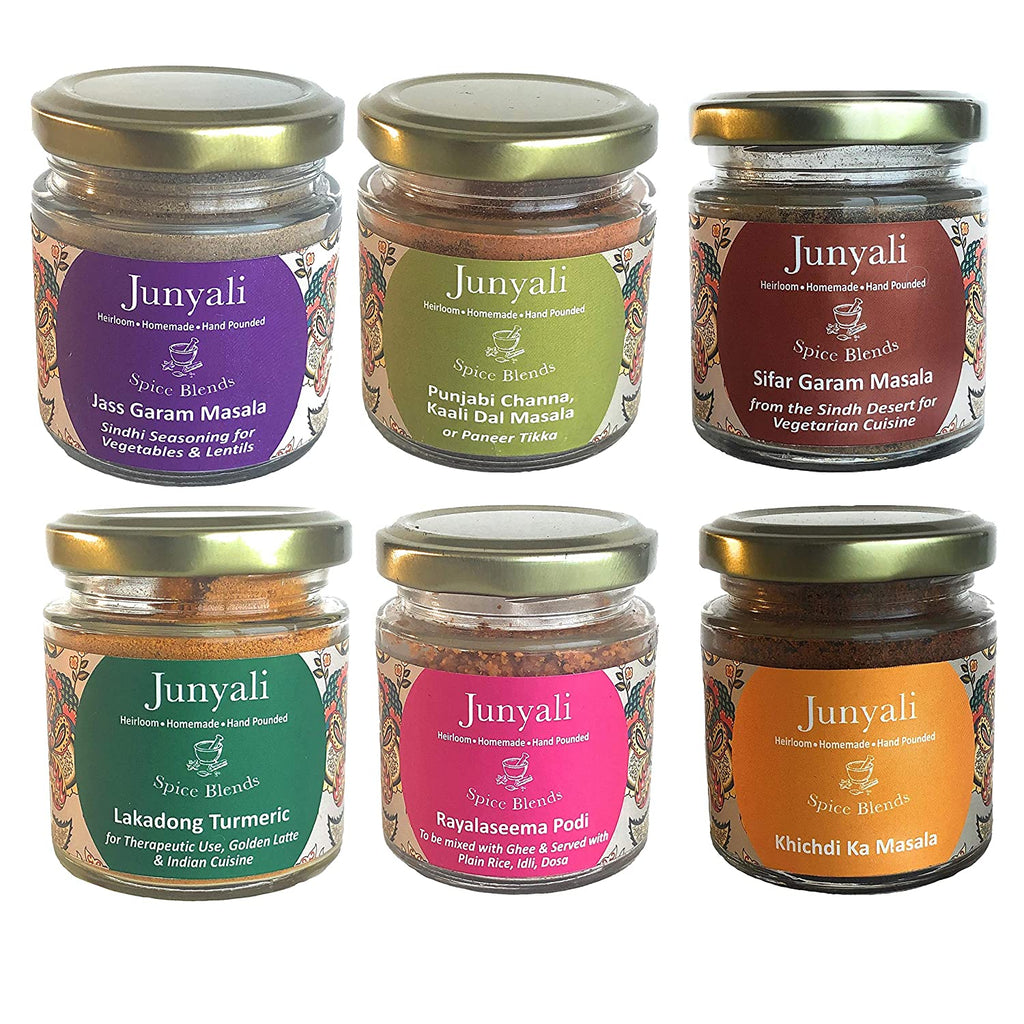 Gift Pack of Spice Blends for Vegetarian Preparations - Pack of 6