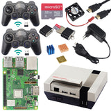 3 Original Raspberry Pi Modelo B + Gaming kit + Case + Fonte De Alimentação de 1.4 GHz quad-core 64 bit Processador com WiFi & Bluetooth para Retrpie
