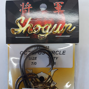 SHOGUN OCTOPUS CIRCLE HOOKS BULK 25PK