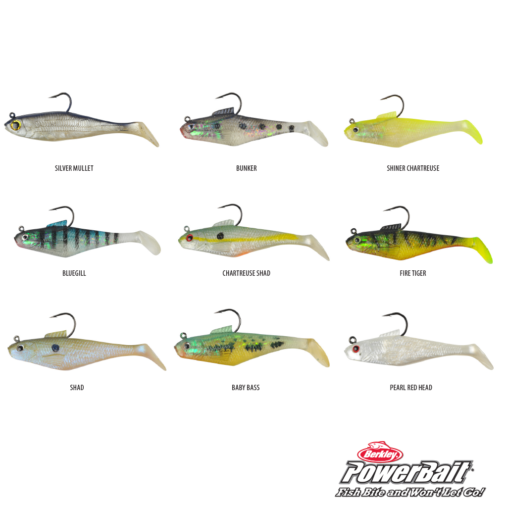 BERKLEY POWERBAIT PRE-RIGGED SWIMMIN' SHAD 5PK