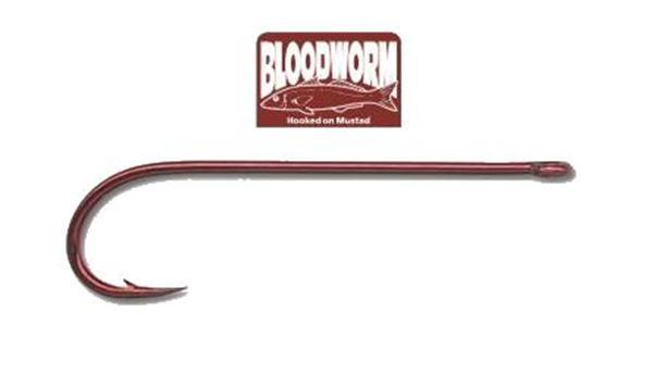 MUSTAD BLOODWORM RED 15PK