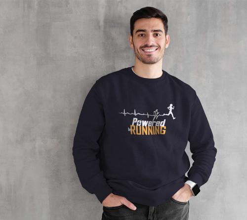 Powered By Running Crew Sweater
