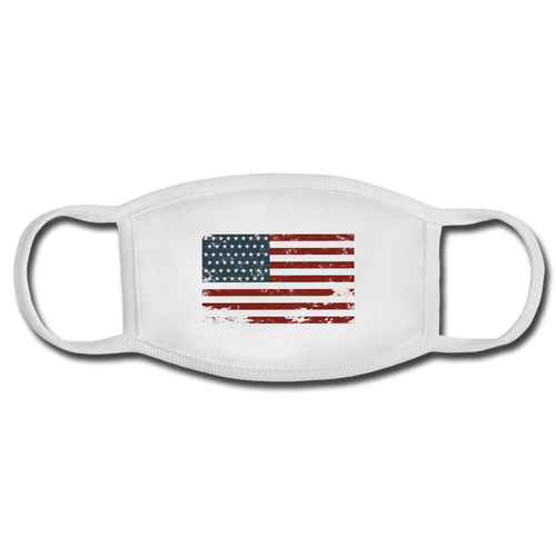 USA Face Mask - white/white