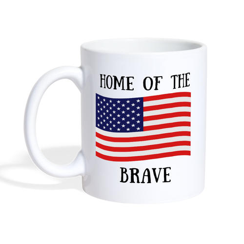 Home of The Brave Mug - white