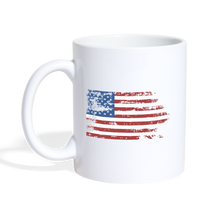 Load image into Gallery viewer, American Flag Faded Mug - white