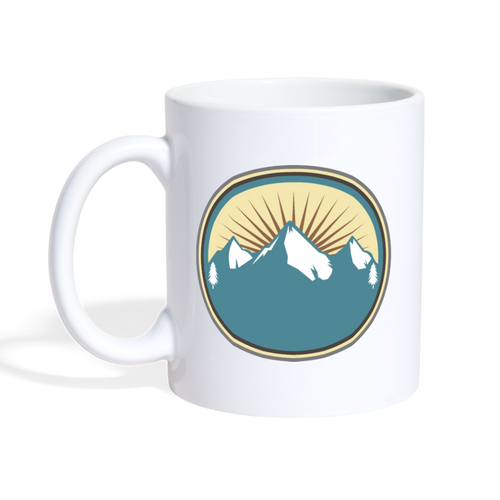 Mountains Mug - white