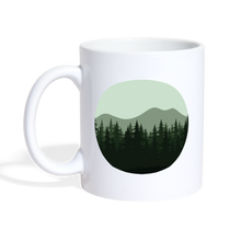Load image into Gallery viewer, Tree Mountain Mug - white