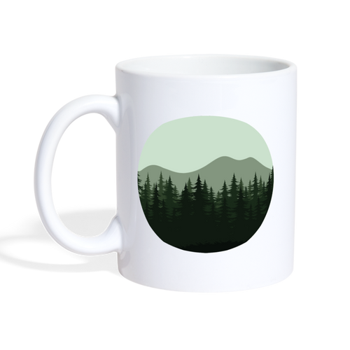 Tree Mountain Mug - white