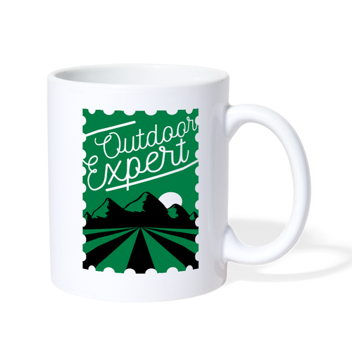 Outdoor Expert Mug - white