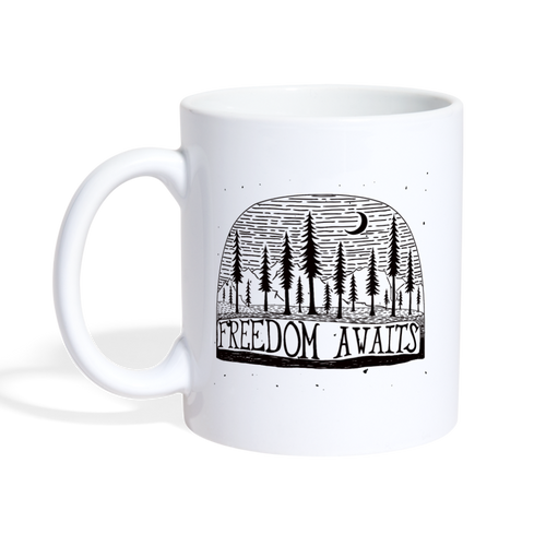Freedom Awaits Mug - white