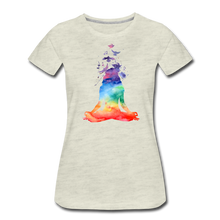 Load image into Gallery viewer, Yoga dreams Women's Premium T-Shirt - heather oatmeal