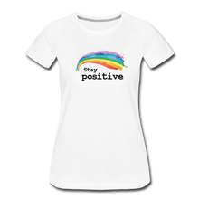 Load image into Gallery viewer, Stay Positive Women's Premium T-Shirt - white