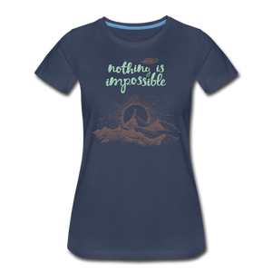 Nothing is impossible! Women's Premium T-Shirt - navy