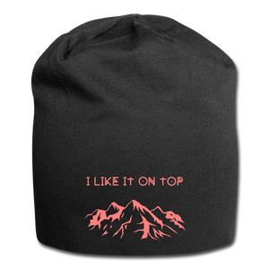 I Like It On Top Wool Cap - black