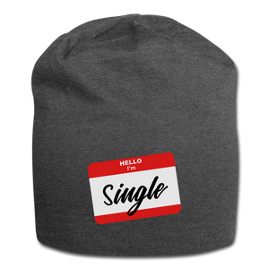 Hello I'm Single - charcoal gray