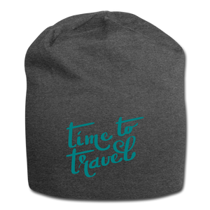 Time To Travel Wool Cap - charcoal gray
