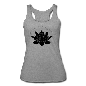 Your Only Limit Is Your Mind Women's Racerback Tank - heather gray