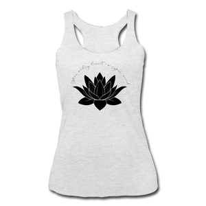 Your Only Limit Is Your Mind Women's Racerback Tank - heather white