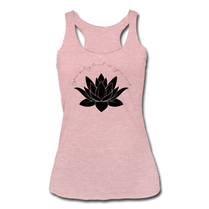 Your Only Limit Is Your Mind Women's Racerback Tank - heather dusty rose