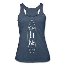 Load image into Gallery viewer, Off Line Surf Women's Racerback Tank - heather navy