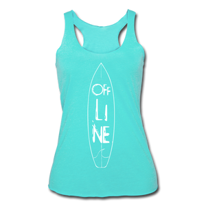 Off Line Surf Women's Racerback Tank - turquoise