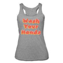 Load image into Gallery viewer, Wash Your Hands Women's Racerback Tank - heather gray