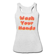 Load image into Gallery viewer, Wash Your Hands Women's Racerback Tank - heather white