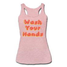 Load image into Gallery viewer, Wash Your Hands Women's Racerback Tank - heather dusty rose