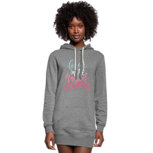 Load image into Gallery viewer, Believe in the Magic of Christmas Women's Hoodie Dress - heather gray
