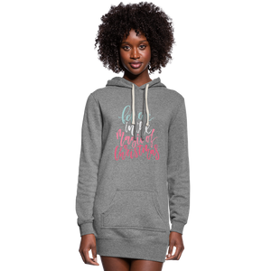 Believe in the Magic of Christmas Women's Hoodie Dress - heather gray