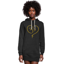 Load image into Gallery viewer, Om Women's Hoodie Dress - heather black