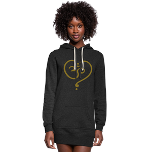 Om Women's Hoodie Dress - heather black