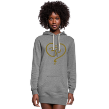 Load image into Gallery viewer, Om Women's Hoodie Dress - heather gray