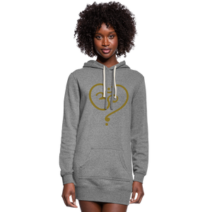 Om Women's Hoodie Dress - heather gray