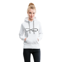 Load image into Gallery viewer, Infinti Love Women's Premium Hoodie - white