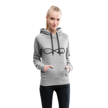 Load image into Gallery viewer, Infinti Love Women's Premium Hoodie - heather gray
