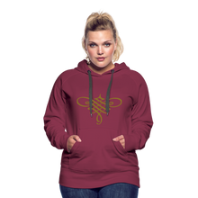 Load image into Gallery viewer, Ornament Women's Premium Hoodie - burgundy