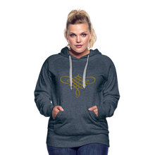Load image into Gallery viewer, Ornament Women's Premium Hoodie - heather denim