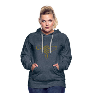 Ornament Women's Premium Hoodie - heather denim