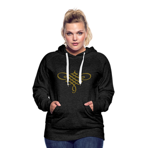Ornament Women's Premium Hoodie - charcoal gray