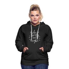 Load image into Gallery viewer, Be Merry and Bright Women's Premium Hoodie - black