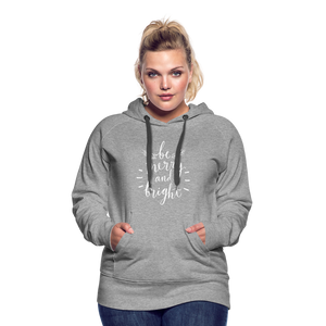 Be Merry and Bright Women's Premium Hoodie - heather gray