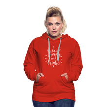 Load image into Gallery viewer, Be Merry and Bright Women's Premium Hoodie - red