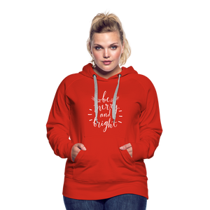 Be Merry and Bright Women's Premium Hoodie - red