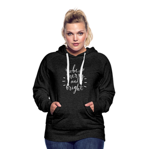 Be Merry and Bright Women's Premium Hoodie - charcoal gray