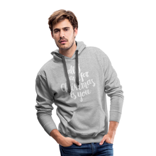 Load image into Gallery viewer, All I want for Christmas Men's Premium Hoodie - heather gray