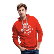 Load image into Gallery viewer, All I want for Christmas Men's Premium Hoodie - red