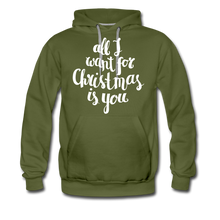 Load image into Gallery viewer, All I want for Christmas Men's Premium Hoodie - olive green